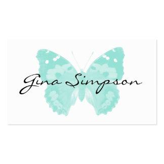 Cartões de visitas personalizados borboleta do Aqu