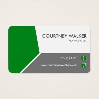 Cartões de visitas personalizar-capazes verdes