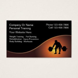 Cartões de visitas pessoais do instrutor - novos