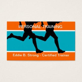 Cartões de visitas pessoais do treinamento da