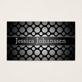 Cartões de visitas preto e branco do padrão dos