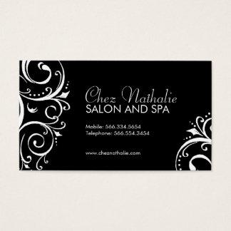 Cartões de visitas preto e branco elegantes