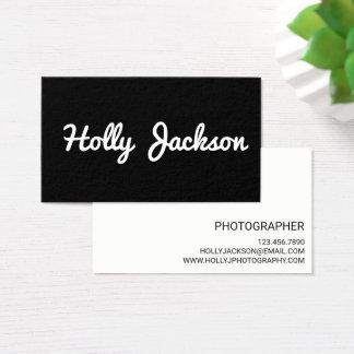 Cartões de visitas preto e branco simples
