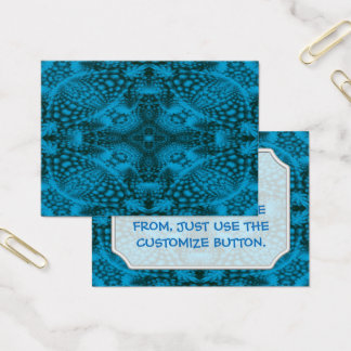 Cartões de visitas pretos & azuis do teste padrão