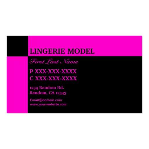 Cartões de visitas pretos cor-de-rosa do modelo da