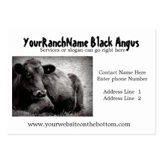 Cartões de visitas pretos da fonte do rancho ou da