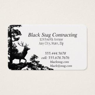 Cartões de visitas pretos do costume do
