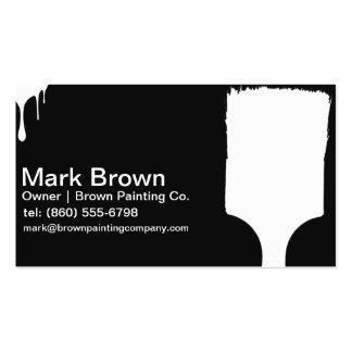 Cartões de visitas pretos do pintor