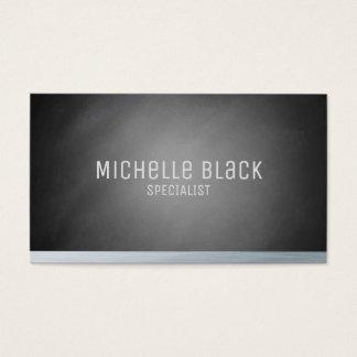 Cartões de visitas pretos elegantes do quadro de
