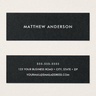Cartões de visitas pretos, magros