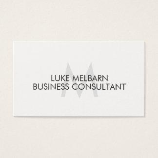 Cartões de visitas profissionais brancos elegantes