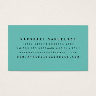 Cartões de visitas profissionais de duas cores