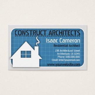 Cartões de visitas profissionais do arquiteto do