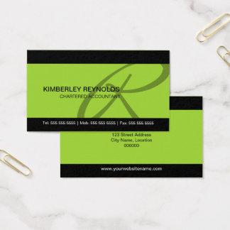 Cartões de visitas profissionais do monograma