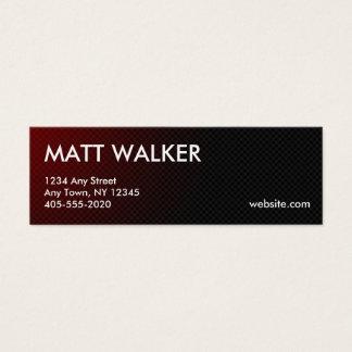 Cartões de visitas profissionais do vermelho da