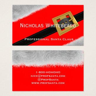 Cartões de visitas profissionais vermelhos do