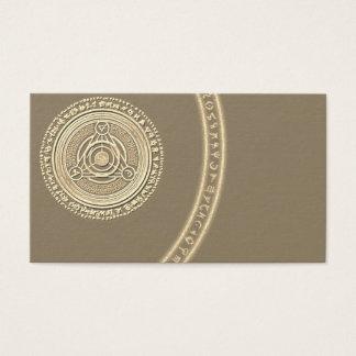 Cartões de visitas psíquicos da astrologia do