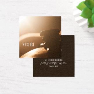 Cartões de visitas quentes da terapia da massagem