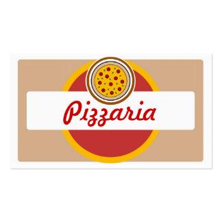 Cartões de visitas redondos da pizza do pizzaria