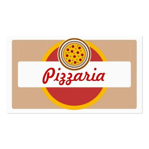Cartões de visitas redondos da pizza do pizzaria s