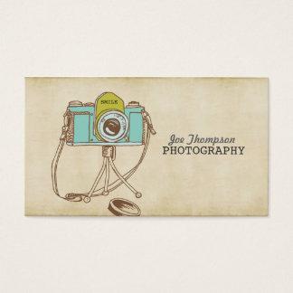 Cartões de visitas retros do fotógrafo da câmera