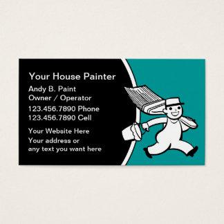 Cartões de visitas retros do pintor