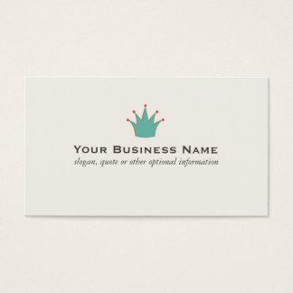 Cartões de visitas retros simples da coroa