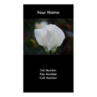 Cartões de visitas romances brancos