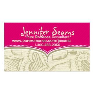 Cartões de visitas romances puros do consultante