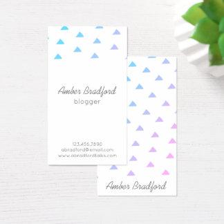 Cartões de visitas roxos azuis de Geo dos