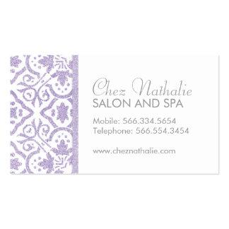 Cartões de visitas roxos customizáveis elegantes d