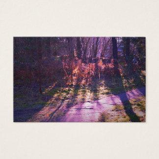 Cartões de visitas roxos da floresta por Jane