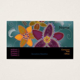 Cartões de visitas roxos do Daffodil