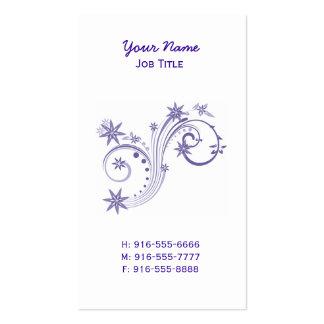 Cartões de visitas roxos finos