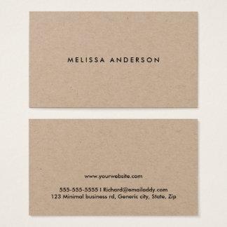 Cartões de visitas rústicos modernos do papel de