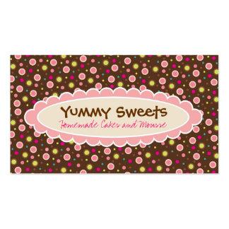 Cartões de visitas saborosos dos doces