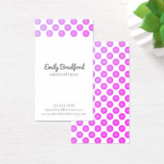 Cartões de visitas Sewing da costureira roxa do