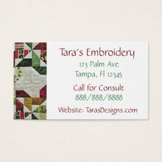 Cartões de visitas Sewing do negócio
