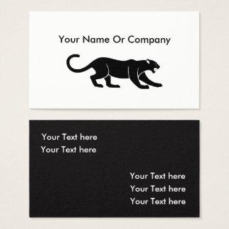 Cartões de visitas simples animais legal