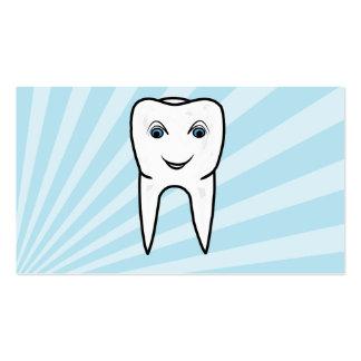 cartões de visitas simples da odontologia