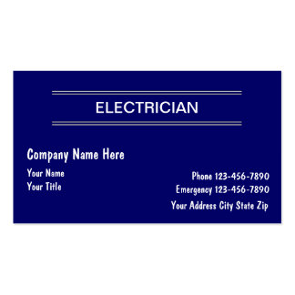 Cartões de visitas simples do eletricista