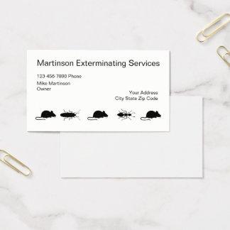 Cartões de visitas simples do Exterminator