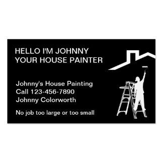 Cartões de visitas simples do pintor
