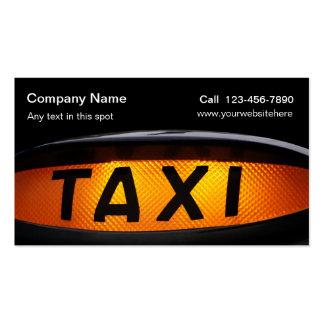 Cartões de visitas simples do táxi