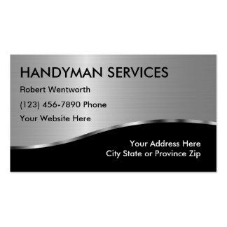 Cartões de visitas simples do trabalhador manual