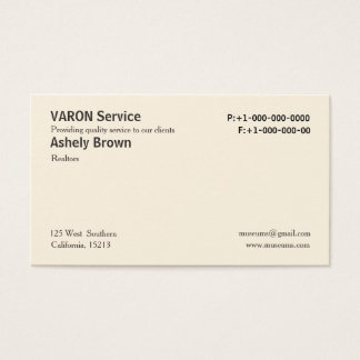 Cartões de visitas simples profissionais de creme