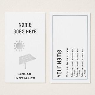 """Cartões de visitas solares """"essenciais"""""""