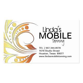 Cartões de visitas Tanning móveis customizáveis