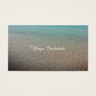 Cartões de visitas tranquilos do design da água da