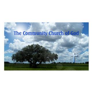 Cartões de visitas transversais da igreja
